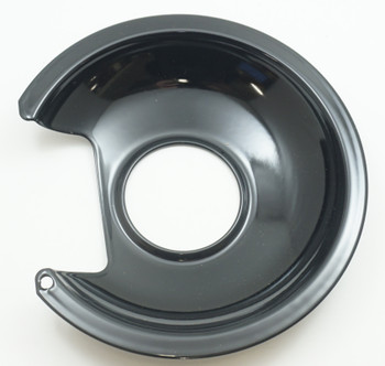"Range Black Porcelain 6"" Drip Pan for Most Fixed Elements, 413-6"