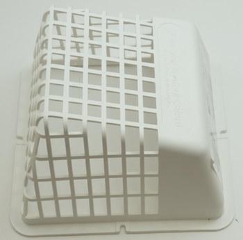 "Deflect-O Universal Bird Guard, White, Fits over any 3"" or 4"" vent hood, UBGWB"