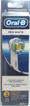 Oral-B Pro White Replacement Brush Heads, 3 Pack, EB18-3, 80215500