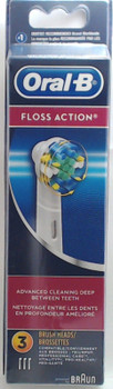 Oral-B FlossAction Replacement Brush Heads, 3 Pack, EB25-3, 80215429