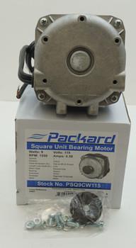 Packard 9 Watt, 115 Volt Square Unit Bearing Motor, PSQ9CW115