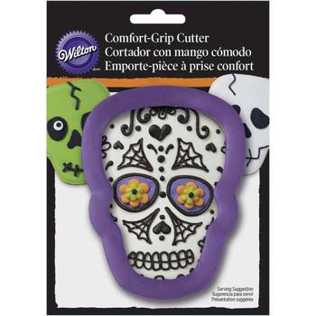 Wilton Comfort Grip Purple Skull Cookie Cutter, 2310-3742