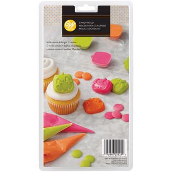 Wilton Halloween Candy Mold, 4 designs, 12 Spaces, 2115-0-0027