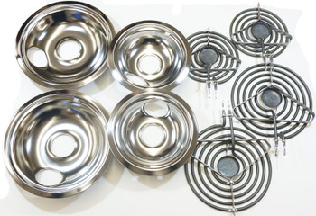 Surface Element and Drip Pan Kit, (2)MP15MA, (2)MP21MA, (2)3150246, (2)3150247