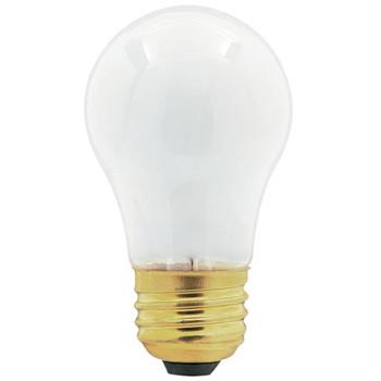 Universal Frosted Appliance Light Bulb, 40 Watt Incandescent, 130 V, 241555401