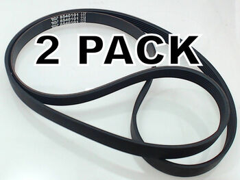 2 Pk, Washing Machine Belt for Whirlpool, Sears, AP3866286, PS990264, 8540101