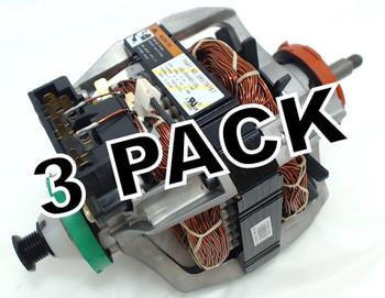 3 Pk, Dryer Motor & Pulley for Whirlpool, Sears, Kenmore, AP3094233, 279787