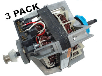 3 Pk, Dryer Motor & Pulley for Whirlpool Sears, AP3094245, PS334304, 279827