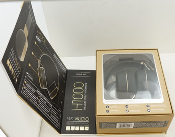 Sentry Premium Headphone with In-Line Mic & Detachable Mic, Gold, H1000G