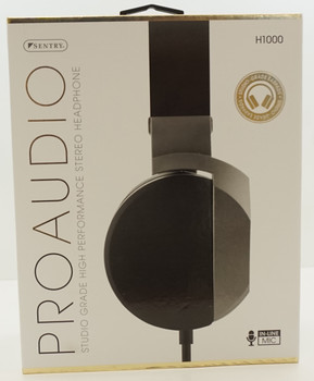 Sentry Premium Headphone with In-Line Mic & Detachable Mic, Silver, H1000S