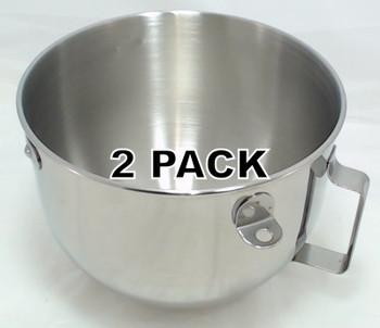 2 Pk, KitchenAid Mixer 5 QT S.S. Bowl w/handle KN25PBH,  W10716820, 9707678