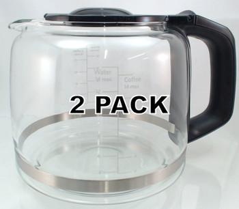 2 Pk, 14 cup Coffee Maker Glass Carafe for KitchenAid, KCM222 / 223, W10505658