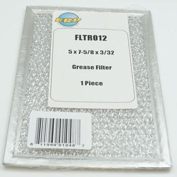 ERP Range Hood Grease Filter 5 x 7 5/8 x 3/32, 1 piece, FLTR012