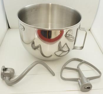 KitchenAid Stand Mixer 5 QT S.S. Bowl With Attachments, W10177650, W11350316