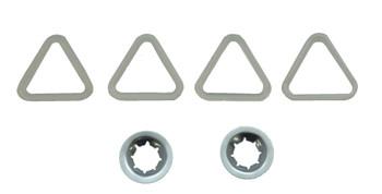 Supco (DE702T) Dryer Drum Roller Set Replaces Whirlpool, AP3098345, 349241T