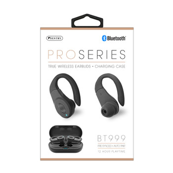 Sentry Pro Series True Wireless Bluetooth Earbuds, Rechargeable, BT999