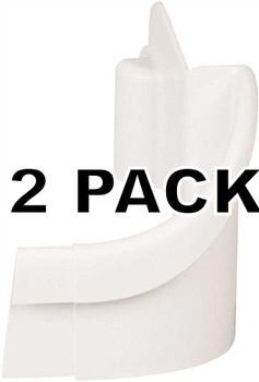 2 Pk, Refrigerator Door Bin End Cap for Frigidaire, AP2115831, 240331502