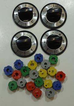 Electric Range Knob Kit for Whirlpool, AP3107813, PS370044, 4378470