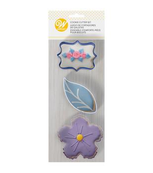 Wilton 3 Pc Floral Cookie Cutter Set, 2308-0-0110