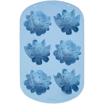 Wilton Silicone Floral, 6 Cavity Candy Mold, 2105-0-0417
