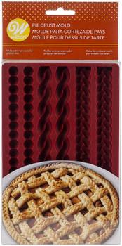 Wilton Silicone Bakeware, 6 Cavity Decorative Pie Crust Mold, 2103-4358