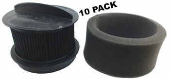 10 Pk, Bissell Vacuum Filter, Style 16, Inner & Outer 32R9