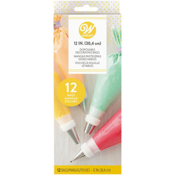 """Wilton 12"""" Disposable Decorating Bags, 12 Count, 2104-358"""