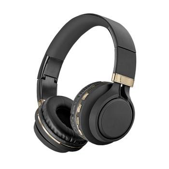 Sentry Black Diamond Black/Gold Wireless Folding Headphones, BLW-BT301