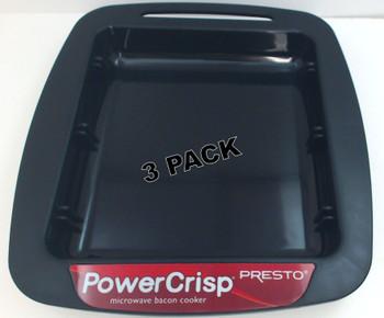 3 Pk, Presto Drip Tray For PowerCrisp Microwave Bacon Cooker, 86005