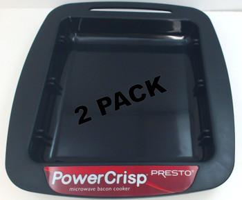 2 Pk, Presto Drip Tray For PowerCrisp Microwave Bacon Cooker, 86005