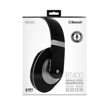 Sentry Premium Folding Wireless Silver Headphones, In-Line Mic, BT400SI