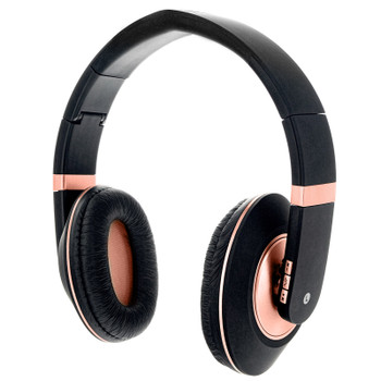 Sentry Premium Folding Wireless Rose Gold Headphones, In-Line Mic, BT400RG