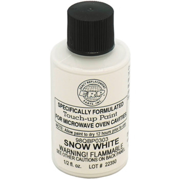 Touch-Up Paint for Microwave Oven Cavities, Snow White, 98QBP0303