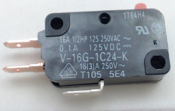 """Microwave Universal Switch, 3 Wire, 3/16""""  Terminals, 15 Amp, 28QBP0495"""