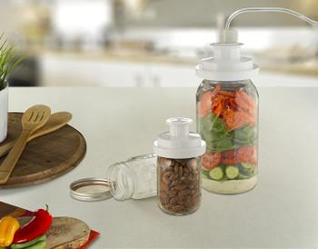 FoodSaver Jar Sealing Kit with Wide-Mouth, Regular Mouth & Hose, FCARWJAH-000