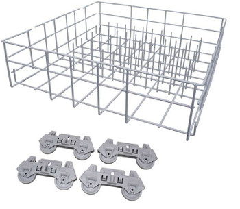 Dishwasher Lower Rack, White, for Whirlpool, AP4303664, PS1964469, W10161215