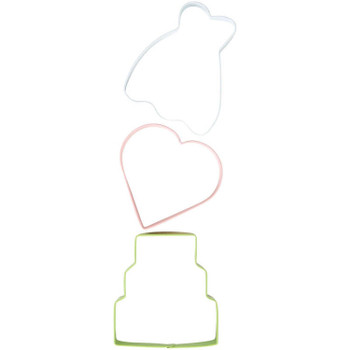 Wilton 3 Pc Wedding Cookie Cutter Set, 2308-0-0191