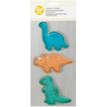 Wilton 3 Pc Dinosaur Cookie Cutter Set, 2308-0-0292