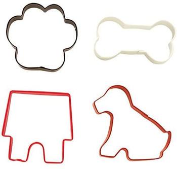 Wilton Dog Shapes Metal Cookie Cutter Set, 2308-0910