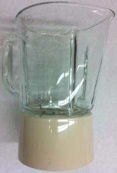 Blender glass jar assmbly, creme, for KitchenAid AP4507810, PS2377616, W10279537