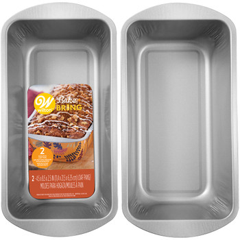 Wilton Bake & Bring Autumn Print Non-Stick Loaf Pans, Set of 2, 2105-5272