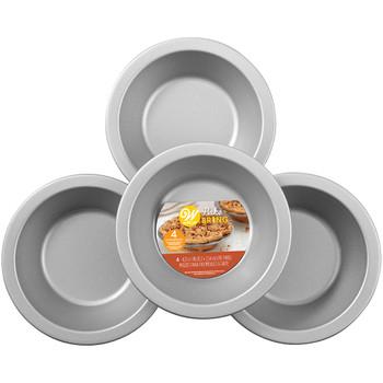 Wilton Bake & Bring Autumn Print Non-Stick Mini Pie Pans, Set of 4, 2105-5271
