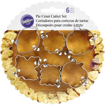 Wilton 6 Piece Autumn Pie Crust Cutter Set, 2308-0893