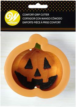 Wilton Comfort Grip Orange Pumpkin Cookie Cutter, 2310-3740
