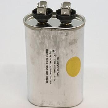 Run Capacitor, Oval, 12.5 Mfd., 440 Volt, CR12.5X440