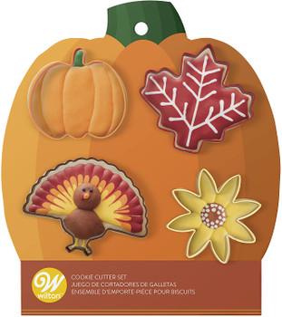 Wilton 4 Piece Autumn Cookie Cutter Set, 2308-0-0298