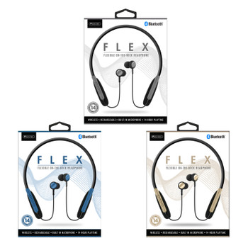 Sentry Flexible On-The-Neck Bluetooth Headphones with Built-in Mic, HPX-BT940