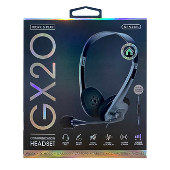 Sentry Work & Play Communication Headset with Folding Boom Mic, HPX-GX20