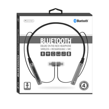 Sentry Deluxe On-The-Neck Bluetooth Earbuds with Built-in Mic, HPX-BT910