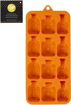 Wilton Halloween Spell Bottle Silicone Mold, 12 Cavity, 2115-0-0085
